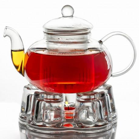 Заварочный чайник с подогревом от свечи (с подставкой-подогревателем комплект), 600 мл