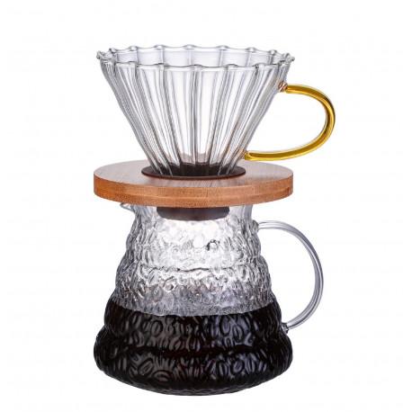 Пуровер (кофеварка) для заваривания кофе, 500 мл