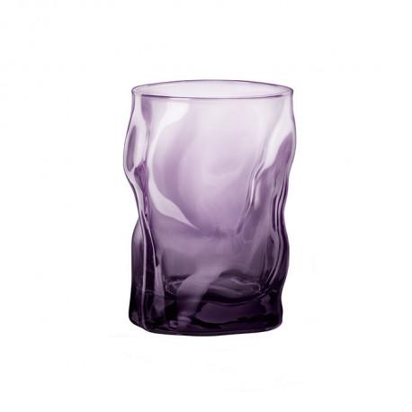 Стакан стеклянный Волна, 300 мл, фиолетовый