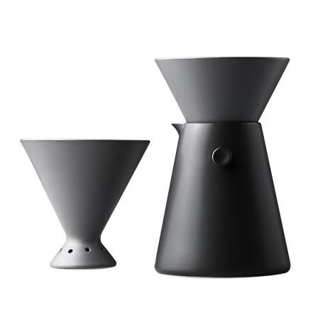 Комплект: пуровер (pour over, воронка для заваривания кофе и кофейник), 650 мл