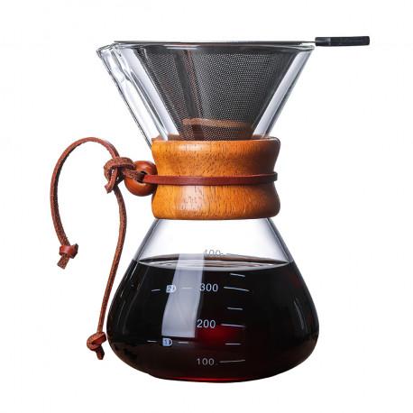 Кемекс (кофеварка) для приготовления кофе, 600 мл с многоразовым фильтром