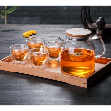 Сервиз чайный с чайником на 500 мл и подносом, на 4 персоны